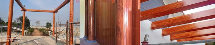 thi công sơn giả gỗ